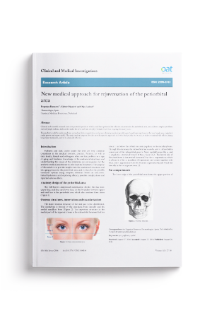 New medical approach for rejuvenation of the periorbital area